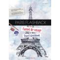 Paris flashback - Mon carnet de voyage - Suivez les premiers pas d'une future étudiante en école d'Art qui vient de s'installer à Paris pour y découvrir son Histoire : architecture, cinéma, mode… Tout l'univers de la culture occidentale s'offre à elle.   «Prendre mon temps, regarder autour de moi, flâner et aller vers ce qui m'attire le plus me permettront de mieux comprendre ma personnalité et ce qui fera mon univers créatif ! Dans mon livre-carnet de voyage, je vais pouvoir dessiner, coller mes photos, prendre des notes et structurer ma découverte de la ville. Dans cette boite à souvenirs, je vais surtout raconter mon voyage réel ou imaginaire de mon Paris tout en me découvrant moi-même.   Mon parcours parisien : Tous les quartiers historiques, les musées, les expositions vers lesquels mes envies vont en suivant la liste des nombreux lieux touristiques de la capitale !»