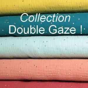 DOUBLE GAZE - Le tissu DOUBLE GAZE est très doux. Idéal pour la confection de doudous, couvertures, coussins, vêtements etc... Qualité supérieure 100% coton. Disponible en divers coloris sur notre stand !