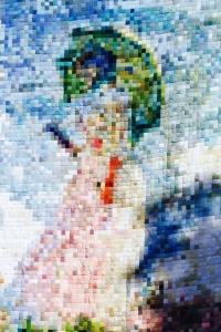 Tricote un sourire - tricot - femme à l'ombrelle - Claude Monet - AEF - 2017
