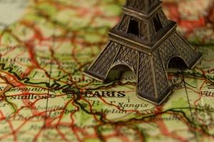 aiguille en fête - venir à Paris - tour eiffel - carte