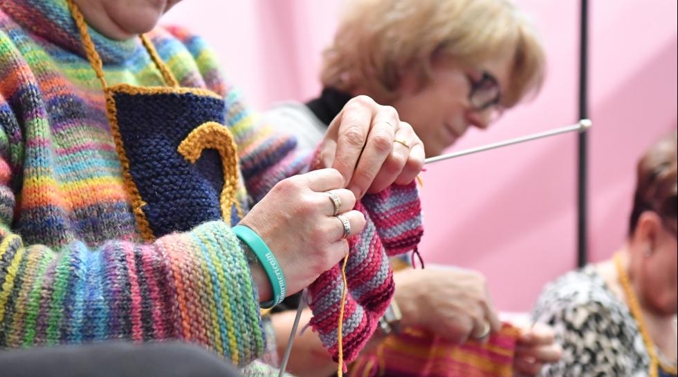 Résultats du speed knitting sur Aiguille en fête 2018
