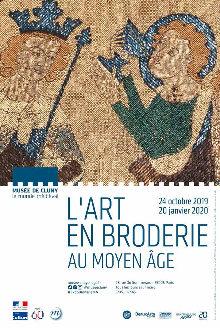 L'art en broderie au Moyen age affiche