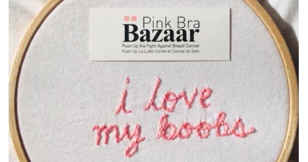Animation broderie avec l association Pink Bra Bazaar d0ee13381f4