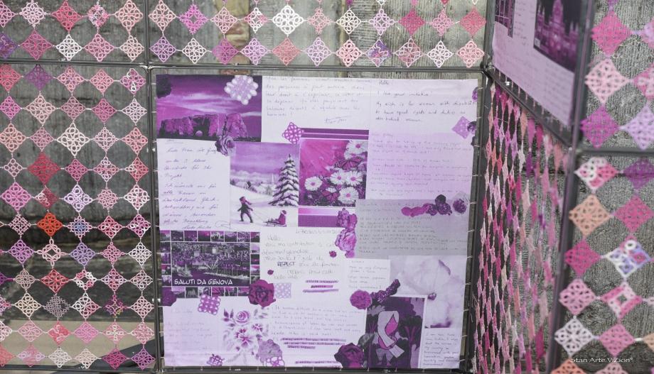 Découvrez les vœux joints aux carrés de dentelle dédiés aux droits des femmes