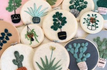 Participez au jeu concours My Little Print Fabrics pour tenter de gagner un kit de feutrage à broder