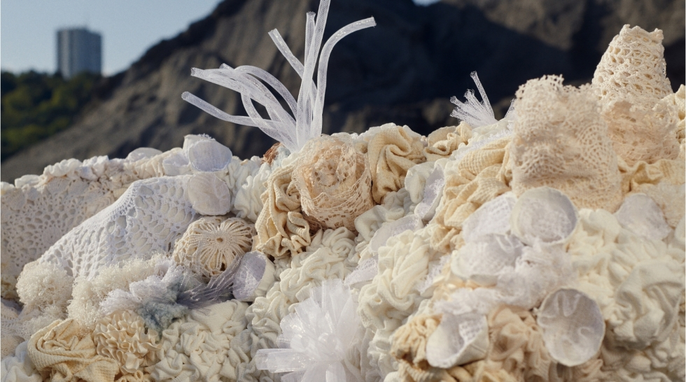 Découvrez la faune et la flore sous-marines en textile d'Aude Bourgine