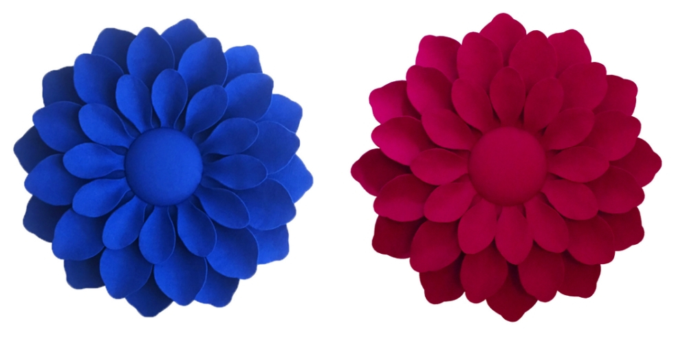 Les fleurs en feutrine grandeur nature d'Emmanuelle M
