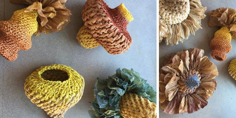 Découvrez les oeuvres d'art textiles végétales d'Igor Brossman