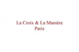 La Croix & La Manière-logo