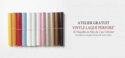 Vinyle Laqué Perforé - La Croix & La Manière - Animation - AEF - 2017